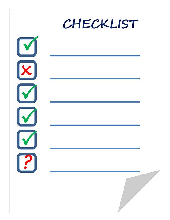 checklist-911840_960_720