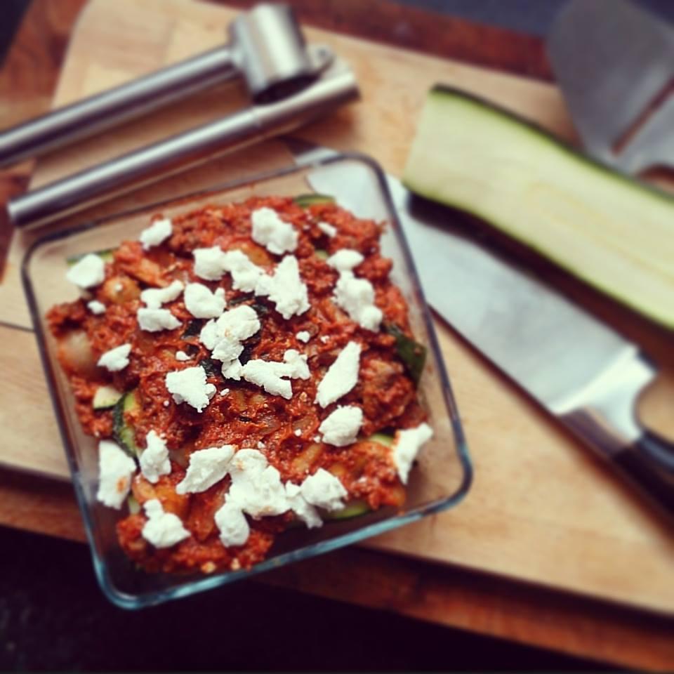 Gezonde courgette lasagne